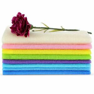 6 Exfoliating Wash Cloth Nylon Japanese Korean Bath Towel Body Back Skin Scrub