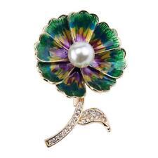 cg2712 Esmalte & Diamante Imitacion Broche de flor