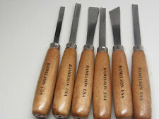 Ramelson Wood Carving Chisels Gouge Tool Set 6pc Woodworking Metalworking Shop