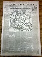 2 1863 newspapers JANUARY UPRISING Poland Wars w Russia-2 Detailed MAPS o POLAND