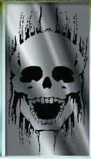 METALLIC SKULL DOOR COVER Halloween Party Haunted House Decoration Spooky