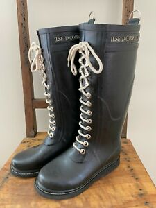 Ilse Jacobsen Boots Hornbaek Wellington Long High Wellies Rubber EU35 UK2 US4