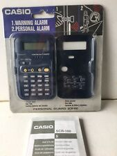 VINTAGE CASIO SCR-100  CALCULATOR And Personal Guard Alarm NEW 1970S-1990s