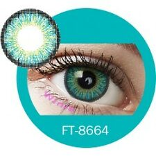 Lentilles de couleur vert 3 tons FT8664 - green color contact lenses