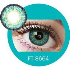 Lentilles de couleur vert 3 tons FT8664 - green color contact lenses