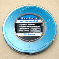 NEW Sea Lion 100% Dyneema  Spectra Braid Fishing Line 300M 50lb Blue