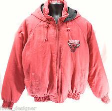Chicago Bulls VTG RED Zip Parka Insulated Hooded Fans Gear Jacket Coat Men's M