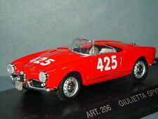 Alfa Romeo Giulietta 1958 Racing 1000 Miglia van Detailcars in Box