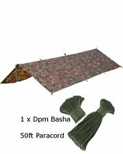 DPM Basha & Paracord Set Sleeping Cover Sheet Military Army SAS Cadet Basher