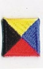 International Maritime Nautical Signal Flag Letter Z Zulu Embroidery Patch