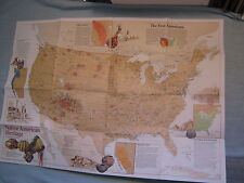 NATIVE AMERICAN HERITAGE U.S. MAP + WHAT YOU CAN VISIT National Geographic 1991