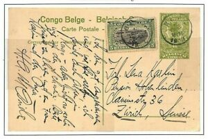 Belgium Colonies CONGO STATIONERY Postcard Album Page 1913 {samwells-covers}GH45