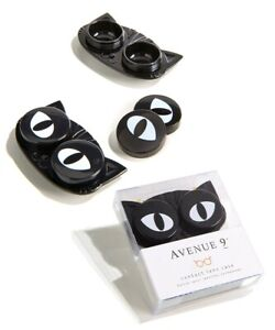 Giftcraft – Black Kitty Cat Eyes Contact Lens Case – 1 Set