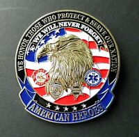 AMERICAN HEROES FIRE DEPT EMT POLICE SHERIFF MEDALLION CAR GRILLE GRILL BADGE 3""