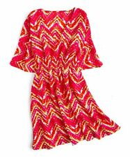 Lindsay Phillips Beach Cover Up Stretch waist Tango Red / Yellow / Orange NEW