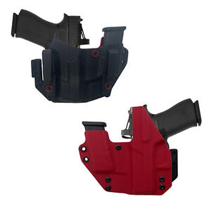 Fit GLOCK 43/ TLR6 RMR Cut Gun and Magazine Combo Holster With MOD WING