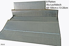 Alu Lochbleche 8 St.68-100x13-20cm Schnittreste Aluminium Bastelmaterial