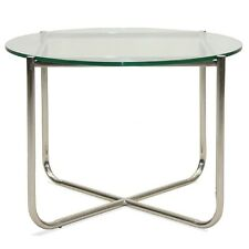 Barcelona Side Table Home Glass Stainless Steel Interior Design Free Delivery