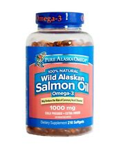 Pure Alaska Omega-3 Wild Alaskan Salmon Oil 1000mg, 210 Softgels *HEART HEALTH*