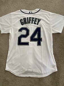 New Ken Griffey Jr. Jersey #24 Seattle Mariners Nike White Mens Med/XL