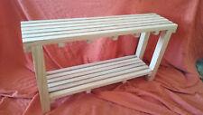 BANCO listones madera. 1 metro largo. Modelo Kleiderschrank