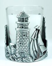 New ListingLighthouse solid Pewter single Candle, Votive Holder