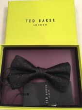Ted Baker Bow Tie 100% With Box Silk Black
