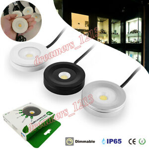2/4/6 3W LED Cabinet Light IP65 Surface Mounted Counter Closet Mini Cabinet Lamp