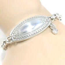 Brighton chain id bracelet style heart scroll Padlock details lock charm