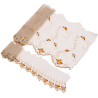 1 Yard Lace Embroidery Trims Cream Gauze Mesh Tulle Dress Sewing Edge Fabric