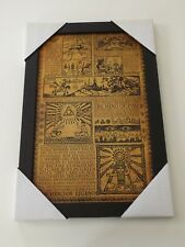 2014 Nintendo Pyramid Picture Wall Hanging Decor Legend of Zelda Story Board