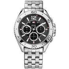 Tommy Hilfiger Uhr 1791047 Herrenuhr Schwarz Silber Edelstahl Watch NEU & OVP