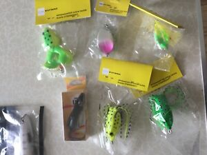 Pike lures frogs mice shads minows buldawg treble hooks swivels beads soft jelly