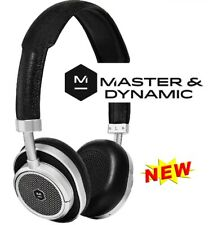 Master & Dynamic MW50 On/Over-Ear Wireless Bluetooth Leather Headset Blk/Silver