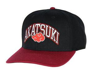 Naruto Akatsuki Sasuke Red Cloud Emblem Adjustable Snapback Hat Cap