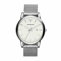 Emporio Armani AR1812 Men's Watch Silver Stainless Steel  Mesh Analogue Quartz