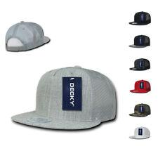 1 Dozen DECKY 5 Panel Flat Bill Baseball Trucker  Caps Cap Hats WHOLESALE LOT