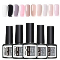 LEMOOC 10Pcs 8ml Nagel Gellack Gel UV Soak Off Nail Art UV Gel Polish Kit Lot