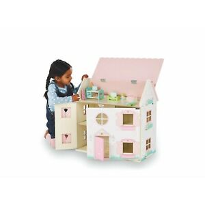 Childrens Large Princess Wooden Pink Dolls House