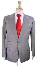 * DAVIES & SON * Savile Row Bespoke Vintage Gray/Black Plaid Wool 2-Btn Suit 38R