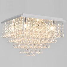[lux.pro] plafonnier en cristal [38x38cm] lustre lampe de chambre chrome