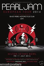 "Pearl Jam/Black Rebel Motorcycle Club London ""European Tour 2014"" Concert Poster"