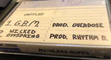Unreleased Ruthless Records Demos / Ruffs - G.B.M. & Wicked Offspring - Rhythm D