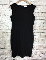 Calvin Klein Womens Black Sleeveless Career Sheath Dress Size 6