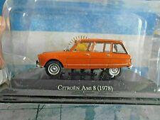 CITROEN Ami 8 Limousine orange Break Kombi 1978 Argentina Atlas IXO Altaya 1:43