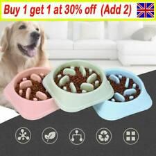 Slow Feeder Dog Bowl Anti Bloat No Gulp Puppy Pet Interactive Feeding Bowl UK GL