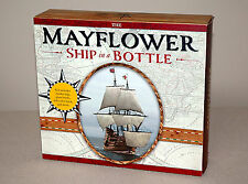 THE MAYFLOWER SHIP IN A BOTTLE KIT w/ Model Ship Glass Bottle Book | New in Box