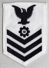 USN Navy Rate:  PO1, Enginenman - white