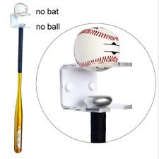 Baseball Bat Rack Ball Holder Wall Mounted Acrylic Storage Bracket Display Stand