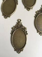 2 pcs Antique Bronze Pendant Settings Blank Base Bezel Trays Fit 18*25mm (145)